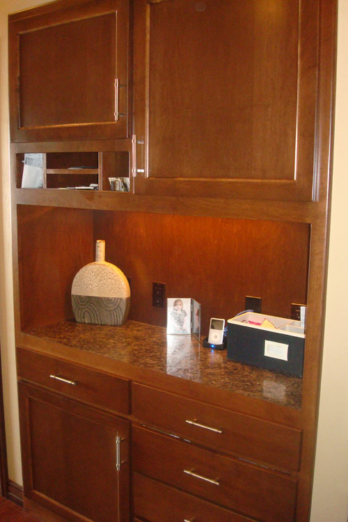 Beautiful Custom Cabinets Home Office Desk And BuiltIn Cabinets InMcLean VA