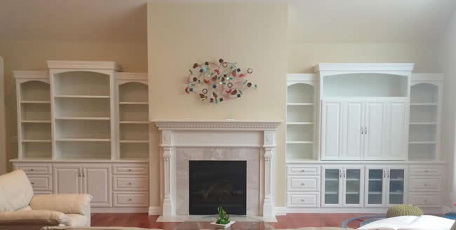 Custom Living Room Cabinets, Home Entertainment Cabinets, Fireplace ...