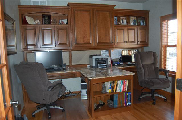 Custom home office custom desk office furniture office cabinets appleton green bay - Custom office desk ...